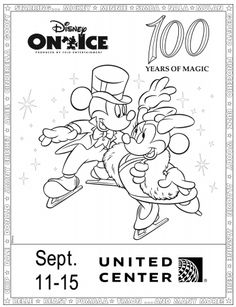 Disney On Ice celebrates 100 Years of magic coloring sheets