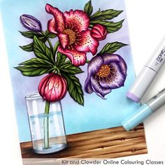 Only a few more days to get in on @kitandclowder's award-winning ONLINE coloring class featuring Power Poppy's Hellebores! Once you've signed up, you have access to the class foreverrrrrrrr. Plus a nifty discount on the digi! You will learn a ton, and have fun doing it! Visit kitandclowder.com to register! #powerpoppy #kitandclowder