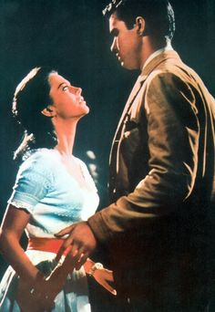 West Side Story  In this 1961 musical update of Shakespeare's Romeo and Juliet, Natalie Wood and Richard Beymer played the star-crossed pair. From the second they spotted each other on a crowded dance floor, they were enamored...and in sync.