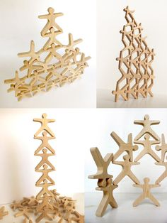 Stacking game Wooden balance and stacking toy por mielasiela