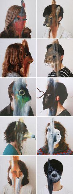 People and animals - charlotte caron. Charlotte Caron, Disguise Art, A Level Art, Foto Art, Ap Art, Gcse Art, Art Design, Art Plastique, Art Inspo
