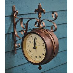 York Wall Clock And Thermometer