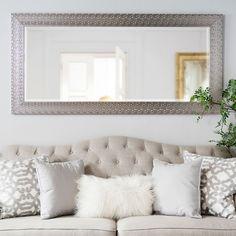 Silver Squares Framed Mirror, 32x66 in. | Kirklands