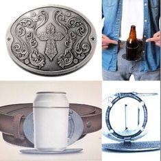 Beer Beverage Can Bottle Holder Religious Cross Belt Buckle Buckles Drink Holder, Bottle Holders, Cool Belt Buckles, Pop Cans, Religious Cross, Metal Stars, Shopping World, Beer Bottle, Beverage