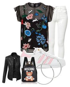 """""""Untitled #1558"""" by social-outcast-16 on Polyvore featuring LE3NO, Mother, Markus Lupfer, adidas, Melissa Odabash and Moschino"""