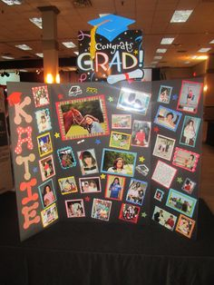 Graduation memory board This is a great idea for an anniversary or an older persons special day party.