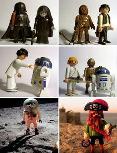 Pacman ha muerto: Personajes famosos representados por figuras de Playmobil