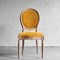 Vintage franse kant stof gestoffeerde stoel, nieuwe klassieke massief houten eiken eetkamerstoel, provinciale fluwelen retro ongewapende stoel