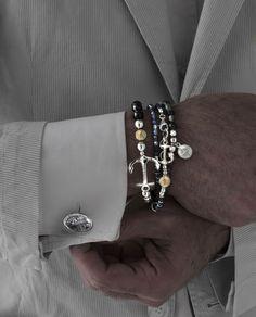 gioielli moda bracciali uomo made in Tuscany Italy Maria Cristina Sterling