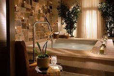 Luxurious home spa room