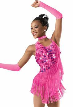 Elem 2 Tap/Jazz Pailette Fringe Dress -Weissman Costumes - $45