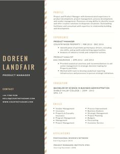 canva 1 resume template - Resume Template Ideas