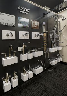 Dornbracht Display at our new showroom in the Miami Design