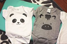 Adorable DIY Baby Onesies using the #SilhouetteCameo! @diyjust | diyjustcuz.com