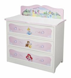 Disney Princesses 3 Draw Chest - the princess bedroom looks prefect with this lovely furniture Disney Princess Nursery, Disney Princess Toddler, Princess Bedrooms, Disney Bedrooms, Disney Furniture, Baby Furniture, Fantasy Bedroom, Toddler Rooms, Toddler Bed