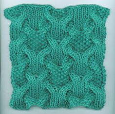 Sara's Colorwave Blog: REVERSIBLY CABLED DISHCLOTH