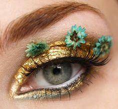 Midsummer Night's Dream eyes Don't you ever just want to make yourself look different. Kiss Makeup, Makeup Art, Beauty Makeup, Hair Makeup, Makeup Eyeshadow, Dali, Make Up Designs, Flower Makeup, Crazy Makeup