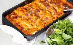 Cannelloni med zucchini och valnötter