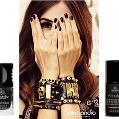 Midnight Black for the weekend! #alessandrointernational #alessandronails #midnight #black #manicure