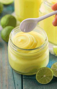 (How to Make Key Lime Curd) This Healthy Vegan Key Lime Curd is creamy, sweet, tart, and delicious. You'd never know it's sugar free, low carb, gluten free, dairy free, and vegan! It's summer in a spoonful.