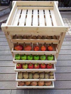 Ana White Build A Food Storage Shelf Free And Easy Diy Project And Furniture Plans Food Storage Shelves, Produce Storage, Storage Ideas, Diy Storage, Fruit Storage, Pantry Storage, Kitchen Storage, Onion Storage, Potato Storage