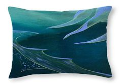 Teal Abstraction Throw Pillow for Sale by Faye Anastasopoulou - x Bedroom Sitting Room, Dark Blue Green, Picture Gifts, Ocean Scenes, Fancy Houses, Pattern Pictures, Cool Themes, Pillow Sale, Design Patterns