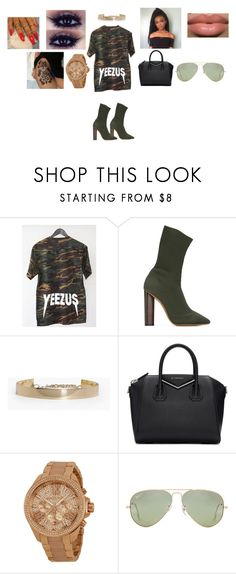 """Outfit #319"" by martin-ilene ❤ liked on Polyvore featuring adidas Originals, Boohoo, Givenchy, Michael Kors and Ray-Ban"