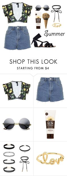 """Hi summer how are you?"" by walkeralexzandreia ❤ liked on Polyvore featuring Beth Richards, Topshop, ZeroUV, Lavanila and Sydney Evan"