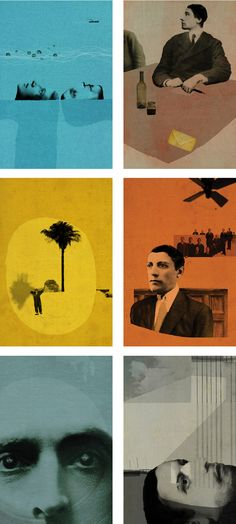 Matthew Richardson. Illustrations from 'The Outsider' by Albert Camus, published by Folio, 2011.