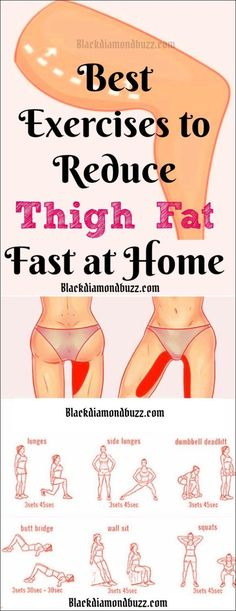 Best Thigh Fat Workouts to lose inner thigh fat, hips, and tone legs at home. These exercises will reduce thighs and hips fast in 7 days. Burn Fat Fast: Best Thigh Fat Workouts to lose inner thigh fat, h… Reduce Thigh Fat, Exercise To Reduce Thighs, Lose Thigh Fat Fast, Exercise Hips, Lose Stomach Fat Fast, Excercise, Exercise Ball, Burn Belly Fat Fast, Diet To Lose Fat