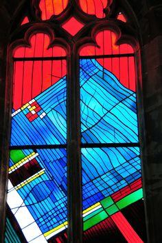 Saarbrücken Schlosskirche Church Stained Glass Window.