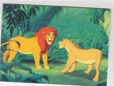 Simba & Nala meet again trading card