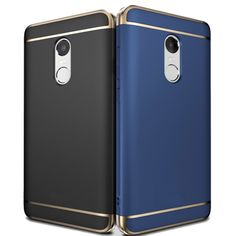 Luxury Shockproof Plating Frame Splicing PC Hard Back Case For Xiaomi Redmi Note 4