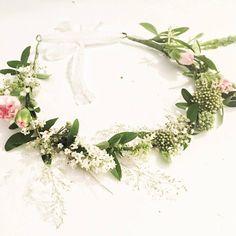 diy couronne de fleurs fraiches