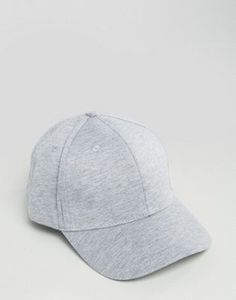 New Look Baseball Cap In Grey Marl 985c0f6fece1