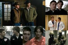 Supernatural - Sam and Dean's many costumes