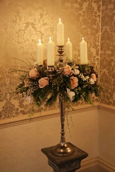 We are a team of florists specialising in Weddings & Events, this is our story a journal of Flowers & Magical Memorable Days. Candelabra Flowers, Candelabra Centerpiece, Diy Centerpieces, Wedding Reception Flowers, Floral Wedding, Flower Decorations, Wedding Decorations, Baroque Wedding, Silk Floral Arrangements