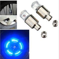 2 unids firefly spoke led movimiento tapa del vástago de válvula del neumático de rueda de neón lámpara de luz para bicicleta autos motos