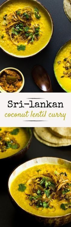 Vegan Coconut Lentil Curry. It's a staple curry among any Sri-Lankan household.