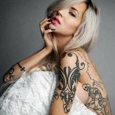 Finnish Tattooed Model Sara Fabel