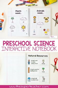 This preschool interactive notebook is awesome! It is the perfect preschool science activity because it's fun and practical! Almost EVERY preschool science standard is in this notebook. It's even NO PREP! Just print and the students do the rest! You can use each page individually with construction paper, or create an interactive notebook. And it's easy enough for preschool and kindergarten. Click here to see more!