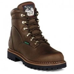 Grange Co-op: Georgia Hammer Waterproof Work Boots Safety Shoes For Men, Safety Toe Boots, Safety Footwear, Best Work Shoes, Duty Boots, Slip Resistant Shoes, Georgia Boots, Steel Toe Work Boots, Hunting Boots