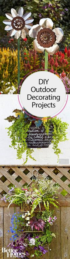 If you want your outdoor space to be as beautiful as your home is inside, you need to check out these cool DIY decorating projects! Whether you paint your rug or wicker chairs, create a fountain, make pebbled flower pots or an outdoor pallet table, or try out one of our other ideas, these fun projects will elevate your outdoor space from so-so to a stylish spot to gather with friends and family.
