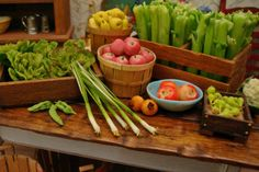 Glorious Green Onions 1:12 Scale Miniature Food Dollhouse Accessory