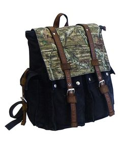 Another great find on #zulily! Black Vintage Camo Backpack by J. Campbell #zulilyfinds