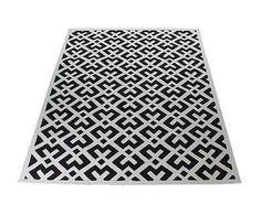 Handgeweven tapijt Nasire, zwart/wit, 160 x 230 cm