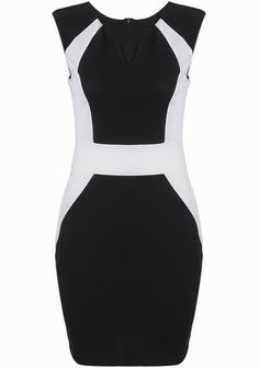 To find out about the Black V Neck Sleeveless Slim Bodycon Dress at SHEIN, part of our latest Dresses ready to shop online today! Stylish Dresses, Simple Dresses, Cheap Dresses, Fashion Dresses, Diva Fashion, Cute Fashion, Womens Fashion, Fashion Trends, Moda Formal