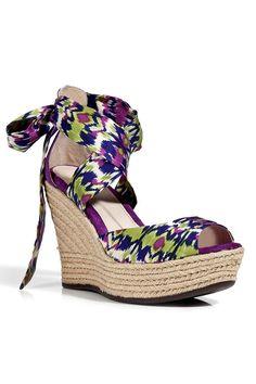 Ugg ladies lucianna sandals in grape multicolor purple ikat wrap