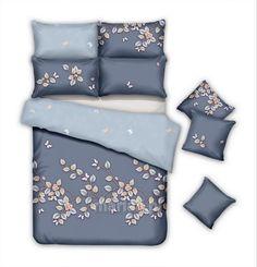 Pościel bawełna satynowa PBC6-64 160x200 6-częściowa dwustronna Mariall Comforters, Blanket, Bed, Home, Creature Comforts, Quilts, House, Rug, Homes