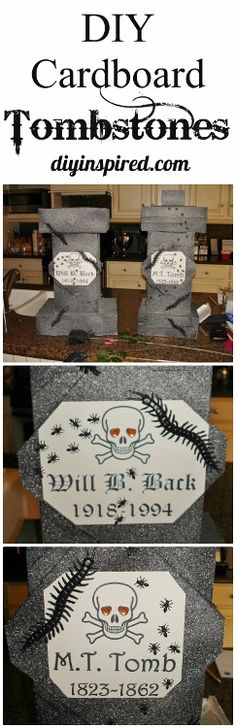 Diy haunted house ideas and props responses to haunted for Cardboard halloween decorations diy